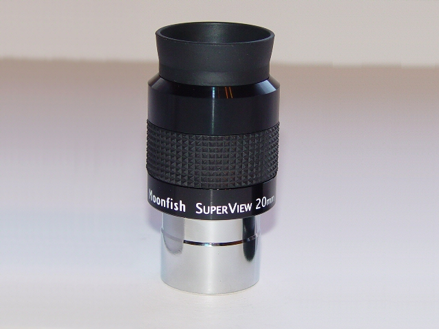 "20mm SuperView 68° 1.25"" eyepiece"
